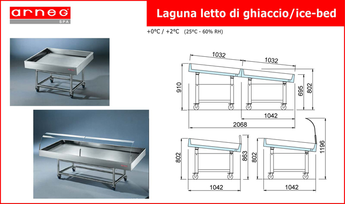 Холодильная витрина Laguna Serpentino 1250 Arneg Италия.png